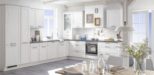 OZEO cuisine - Image - CUISINE BOIS BLANC | STYLE CAMPAGNE CHIC
